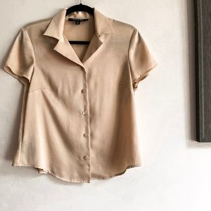 Gold Short Sleeve Button Down